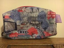 Hello Kitty Liberty London Tote Bag Makeup Holiday New Hobo Clutch Wash Blue New
