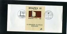 III EXPOSICAO FILATELICA BRASILEIRA,- ''BRAPEX  22/6 1978  S/S/ TARJETA F.D.T