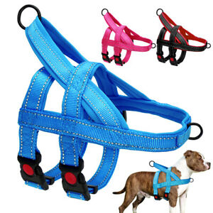Reflective No Pull Dog Harness Front Clip Large Dogs Training Walking Harness