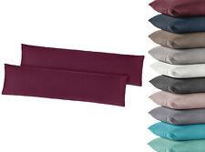 2er Pack Jersey Kissenbezug Kissenbezüge 35x160, 40x145 Seitenschläferkissen