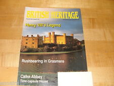 British Heritage Magazine Aug Sept 1991 Henry VIII Calke Abbey HMS Warrior