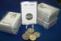 Coin holders Slab Style for Canadian and Nfdl 25 Cents --- 24 mm **10 pcs lot**
