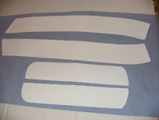 PAIR OF CLASSIC MINI (NOT BMW MINI ) WHITE BONNET AND BOOT STRIPES