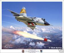 F-106 Delta Dart 27th FIS Aviation Art Print