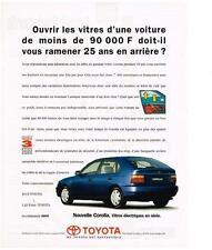 PUBLICITE ADVERTISING  1995   TOYOTA  COROLLA vitres éléctriques