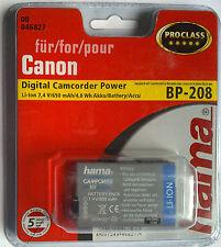 046827 ° Hama per Canon bp-208 DC 10/20/40/100 MVX 1s/450/460 Digital Camcorder