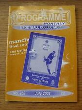 """Jul-2003 programma MENSILE & da collezione: la voce del """"programma di calcio"""" COLL"""