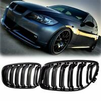 FOR BMW E90 E91 3 SERIES KIDNEY GRILL GRILLE GLOSS BLACK M STYLE 09-11 NEW