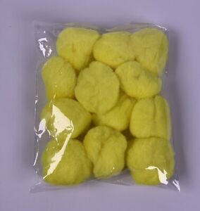 Yellow Pom Poms Pack of 12 pompoms Large Size 5 cm 50mm Chicks Round