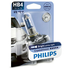 Philips Crystal Vision 4300K HB4 Car Headlight Bulbs (Single Pack) 9006CVB1