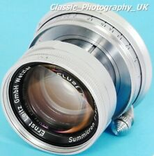 LEICA Summicron f=5cm 1:2 SUMMICRON 2/50mm - Prime Lens Made by LEITZ in 1955