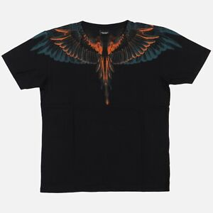 Marcelo Burlon Blue and Orange Alas Wings T-Shirt   Size M Relaxed fit FW15
