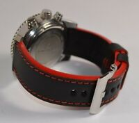MA WATCH STRAP 26 24 22 MM GENUINE CALFSKIN IMOLA RED HANDMADE BAND FOR PANERAI