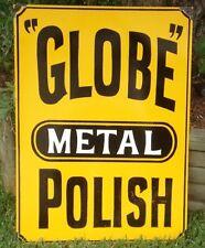 GLOBE METAL POLISH ENAMEL SIGN (MADE TO ORDER) #13
