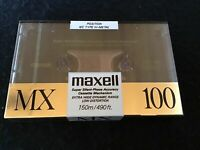 New! 1 audio cassette Maxell IEC type IV Metal MX 100 Sealed Rare! Japan