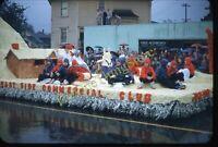 Portland Oregon Float Kid Commercial Club 1950s 35mm Slide Red Border Kodachrome
