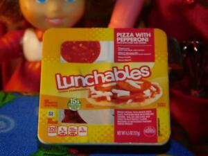 Lunchables Miniature Pizza Mini Brand fits Fisher Price Loving Family Dollhouse