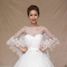 New Lace Bridal Wedding Shawl White Wrap Cape Lace Bolero Stole Shrug Jacket