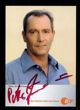Peter Zimmermann ZDF autografiada mapa original firmado # bc 61020