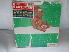 Jeanmarie Creations Gift Boxes With Tags Green White Teddy Bear 5 Christmas 1985