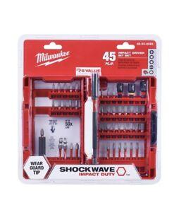 Milwaukee 48-32-4023 ShockWave Impact Bit Set 45Pc