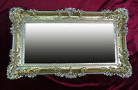 XXL Wall Mirror Silver 96x57 Antique Baroque Shabby Chic Floor Make-Up