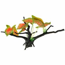 LM Penn Plax Driftwood Plant - Green & Red - Wide 1 Count