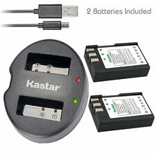 Kastar EN-EL9 Battery & Dual USB Charger for Nikon D40x D60 D3000 D5000
