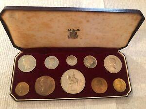 1953 GREAT BRITAIN 10-PIECE CORONATION PROOF SET