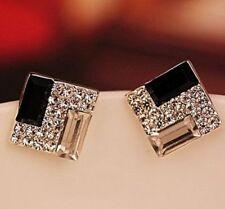 Mode-Ohrschmuck aus Stein mit Strass Durchzieher