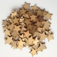 Wooden MDF Star Shapes Craft Blank Christmas Plaque & Card Making 3mm Thick