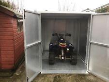 Motorbike Quad bike storage shed - Galvanised Steel FREE INSTALLATION & DELIVERY