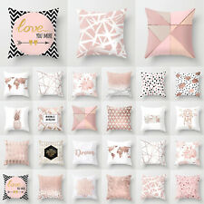 Geometric Cushion Cover Sofa Square Waist Pillow Case Throw Home Room Car Decor
