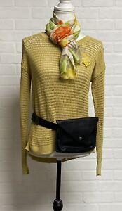 Eileen Fisher Black Leather Belt Bag Waist Bag
