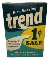 Trend 1c Laundry Dish Detergent Soap Box 11 oz Unopened Full Purex USA Vintage