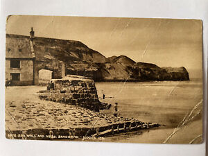 Postcard Of Seawall And Ness At Sandsend