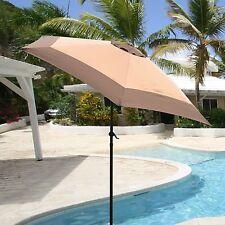 9ft Aluminum Outdoor Patio Umbrella Yard Beach w/ Crank Tilt