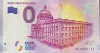 BILLET 0  EURO BERLINER SCHLOSS 2 ALLEMAGNE    2017 N° PALINDROME 2112