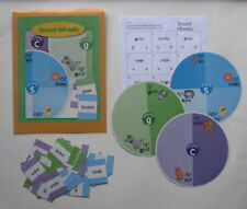 Evan Moor Phonics Center Learning Resource Game Sound Wheels Sounds c, g, and s