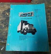 Bally Truck Stop Pinball Machine Manual - used original in good shape!