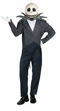 Jack Skellington Deluxe Adult Mens Costume Vinyl Mask Halloween Disguise