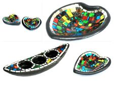 Moroccan Mosaic Heart Dish Potpourri Plate Candle Holder Incense Stick Burner