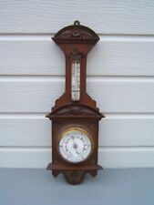 "Barometer vintage Mahogany 26"" long wall mount working B5"