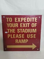 Candlestick Park Authenticated Sign San Franscisco 49ers Giants Metal Mancave
