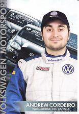2010 Andrew Cordeiro SCCA Volkswagen VW Jetta TDI Cup postcard