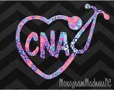 "5"" PRINT CNA NURSE STETHOSCOPE DECAL RN CNA VINYL DECAL STICKER LAPTOP YETI CAR"