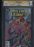 Justice League #2 CGC 9.6 3x SS Giffen & DeMatteis & Maguire 1987