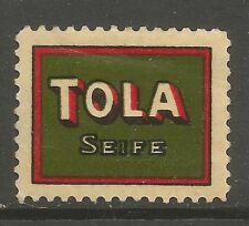 Tola Seife (SOAP) Etiqueta/Sello De Publicidad