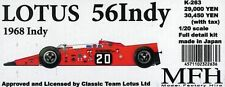 MFH Model Factory Hiro 1/20 LOTUS56 Indy 1968 Indy Full detail kit