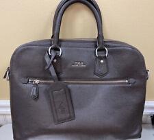 Polo Ralph Lauren Crossbody Messenger, Brown Pebble Leather NWOT